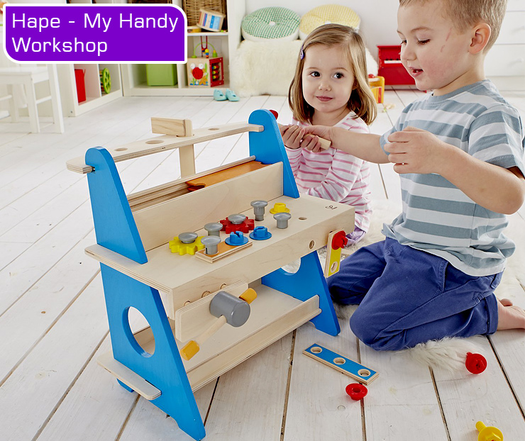 Hape-my-Handy-workshop-kids-tool-bench-kids-playing