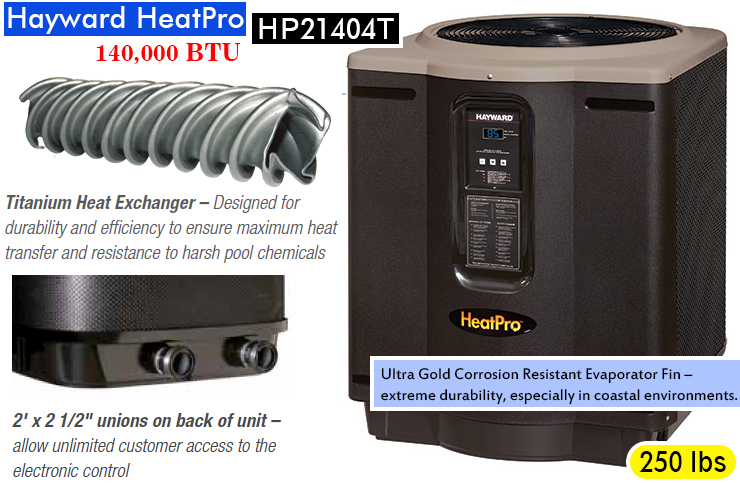 Hayward HP21404T HeatPro best pool heat pump.